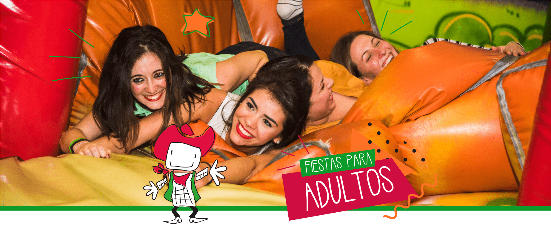 chiquipark con fiesta de adultos Barcelona