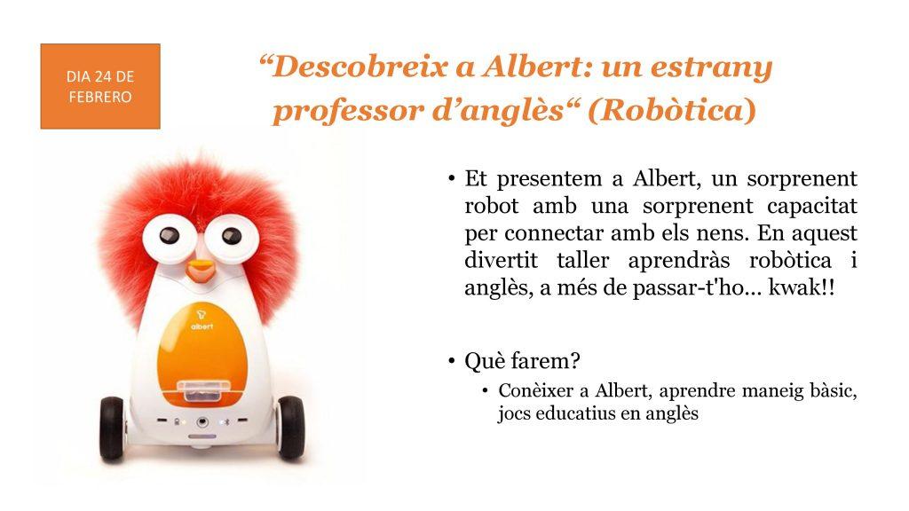 Tallers creatius en anglès robòtica